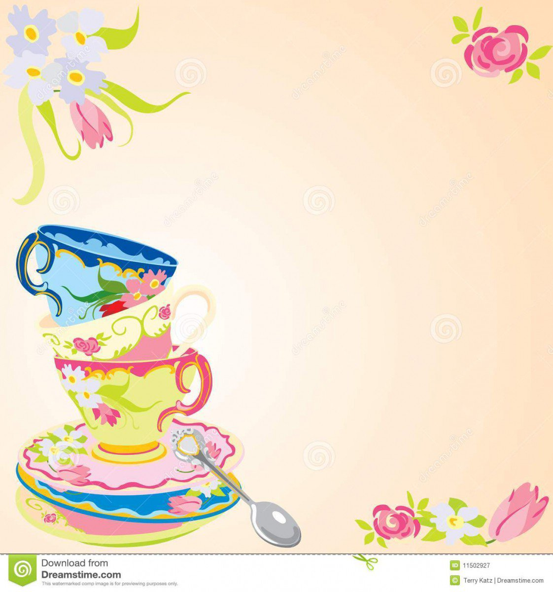 Free Printable High Tea Party Invitations