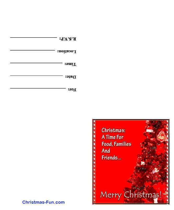 Free Printable Holiday Invitations 2015