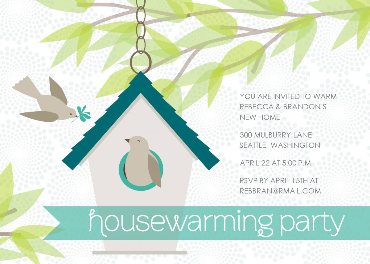 Free Printable Housewarming Invitations Party 2016