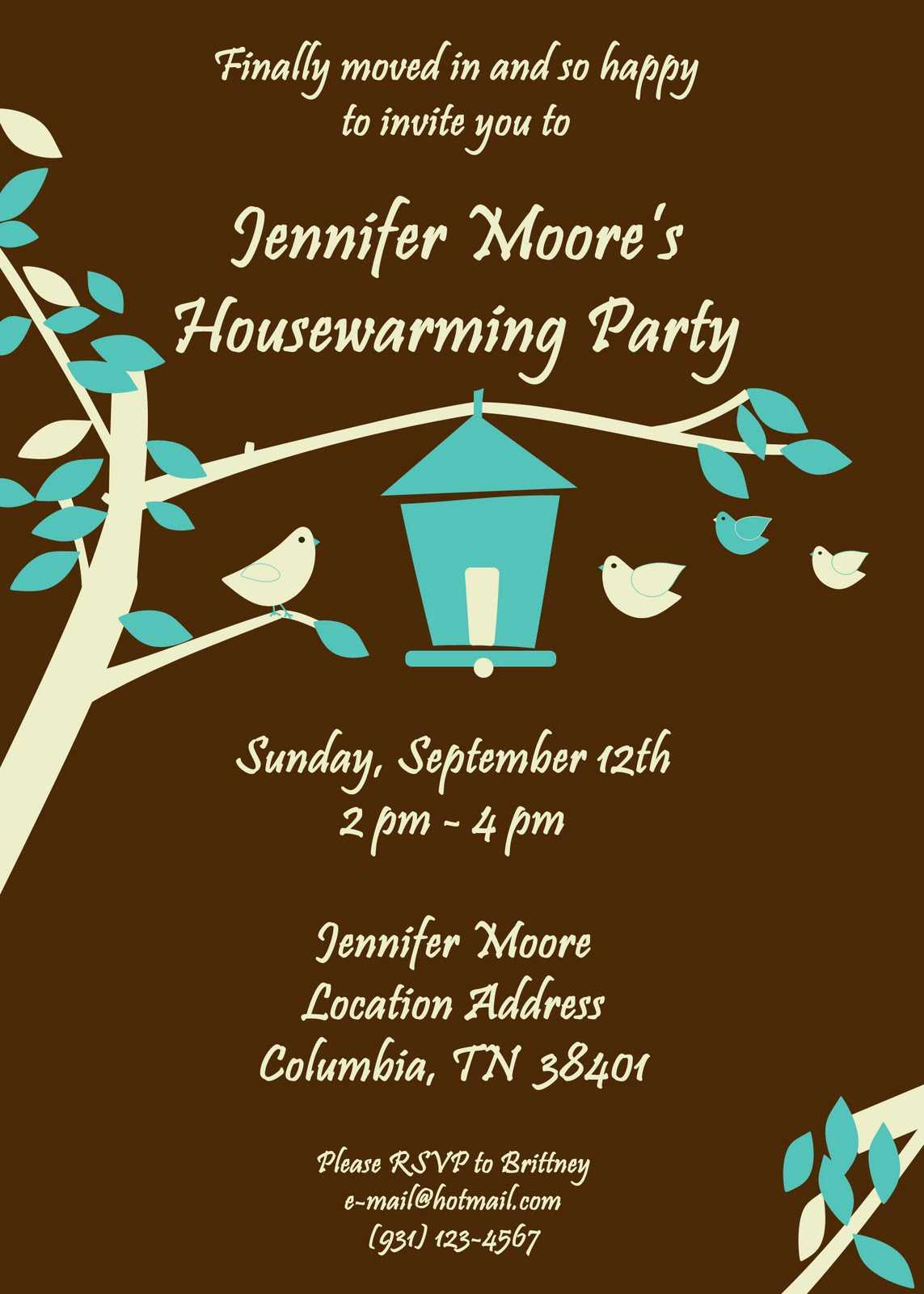 Free Printable Housewarming Party Invitations Templates 2019