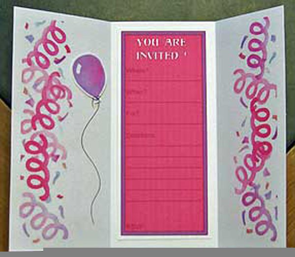 Free Printable Invitation Birthday Cards For Girls 2018