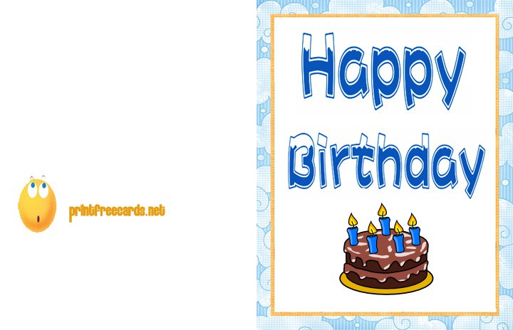 Doc Printable Birthday Cards for Kids to Color Birthday Card – Printable Free Birthday Cards