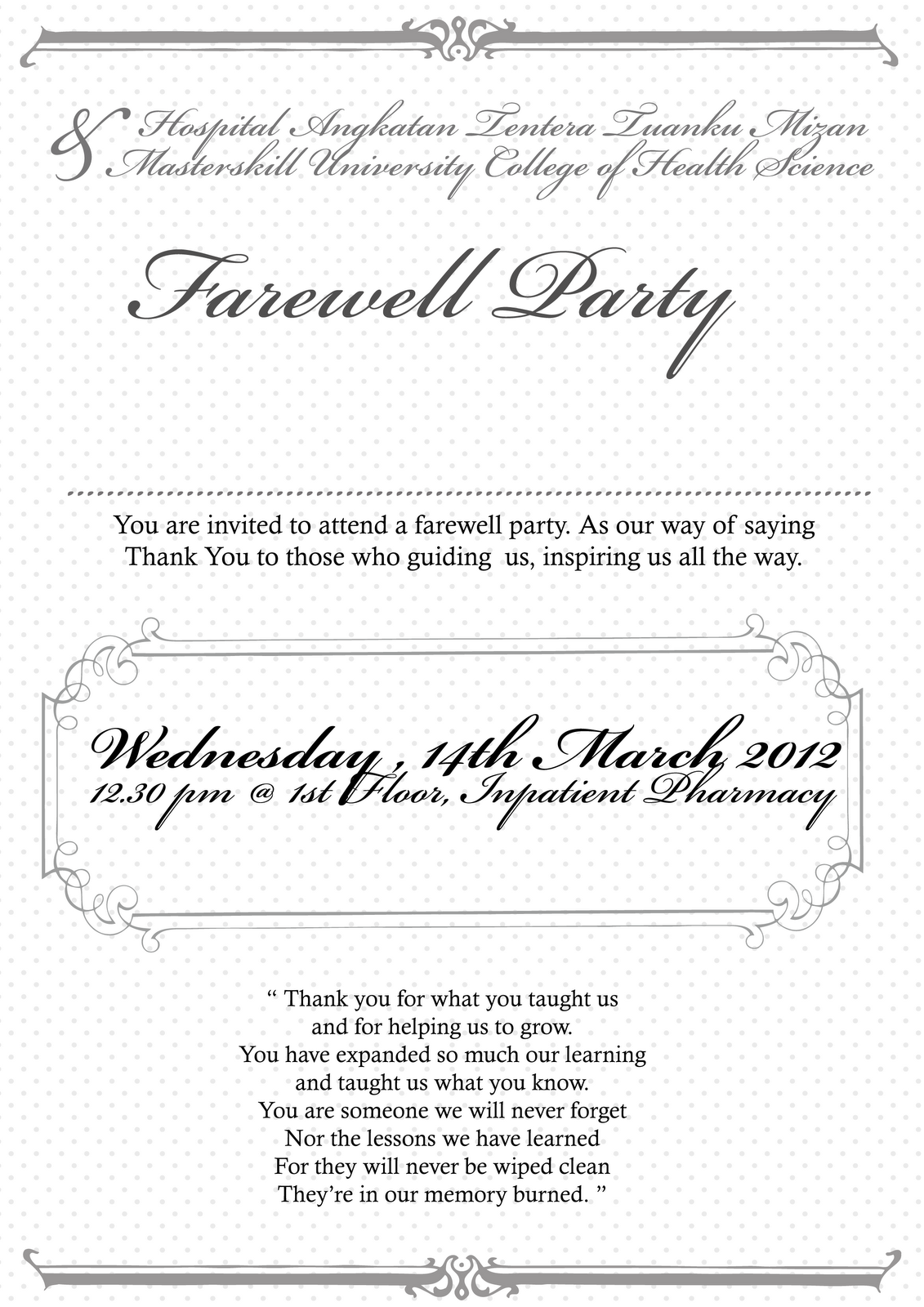 Printable invitation templates going away party free printable invitation templates going away party stopboris Images