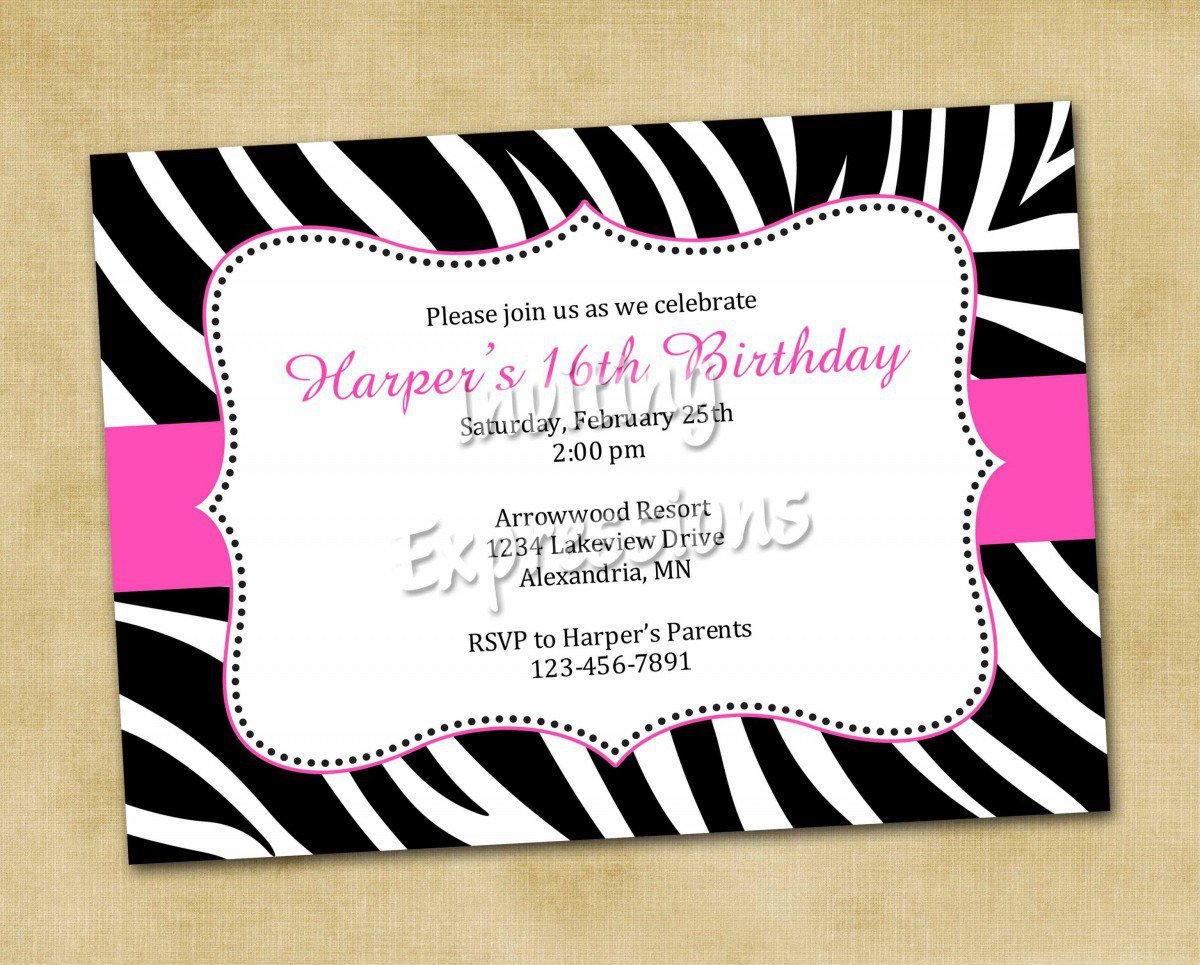 Free Printable Invitations Birthday Party 2017