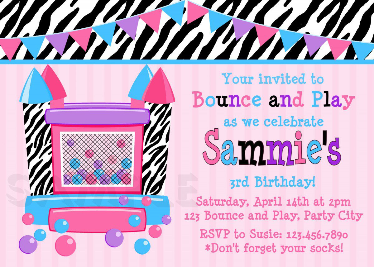 Free Printable Invitations For Birthday Girls 2017