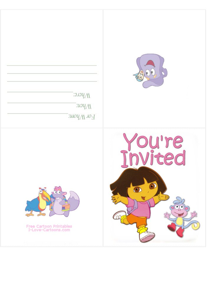 Free Printable Kids Birthday Party Invitation Cards 2015