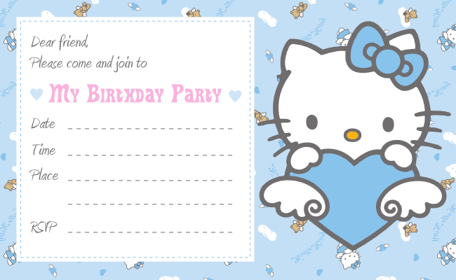 Free Printable Kids Birthday Party Invitation Cards 2016