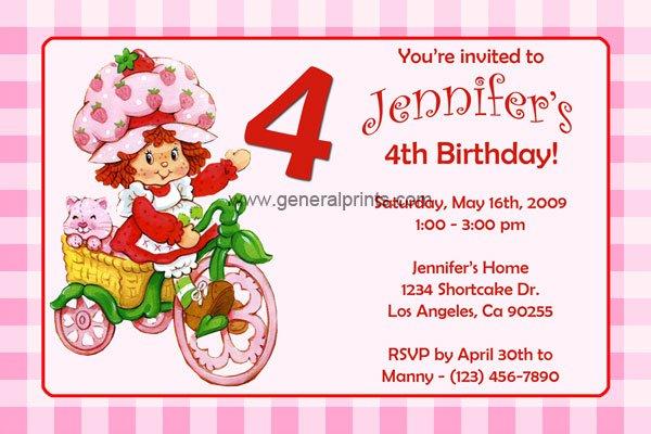 Free Printable Kids Birthday Party Invitation Cards