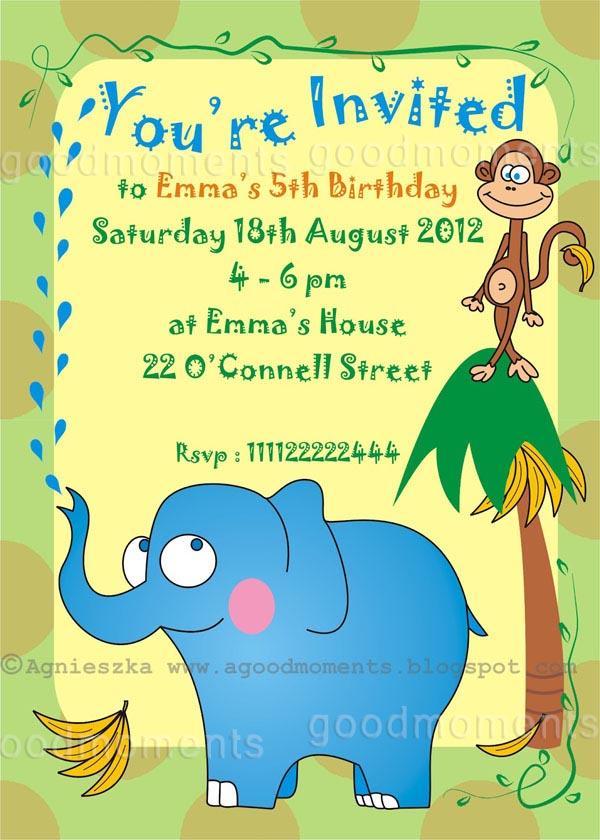 Free Printable Kids Birthday Party Invitations 2017