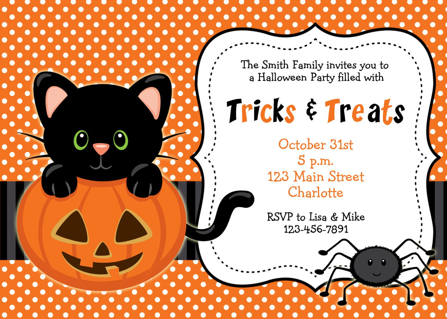 Free Printable Kids Halloween Birthday Party Invitations