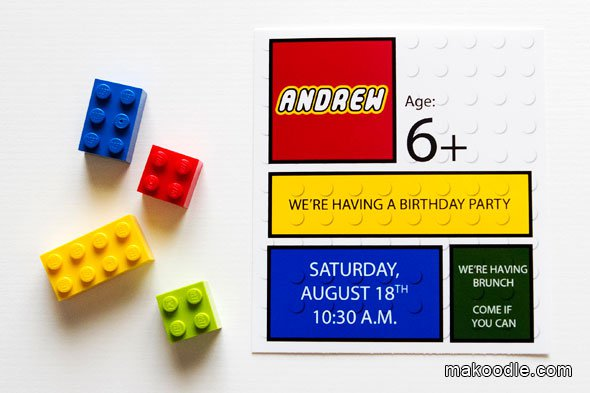 Free Printable Lego Star Wars Birthday Invitations