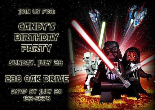 Free Printable Lego Star Wars Invitations 2016