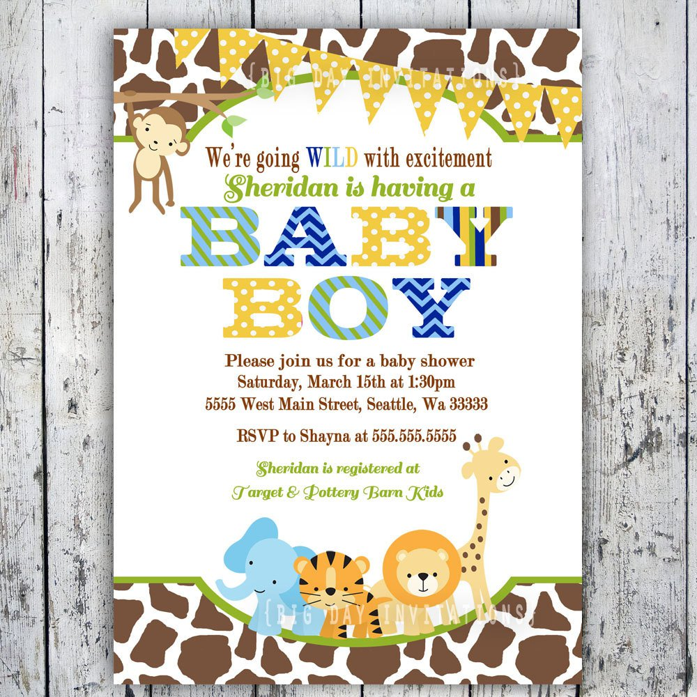 Free Printable Leopard Birthday Invitations 2015