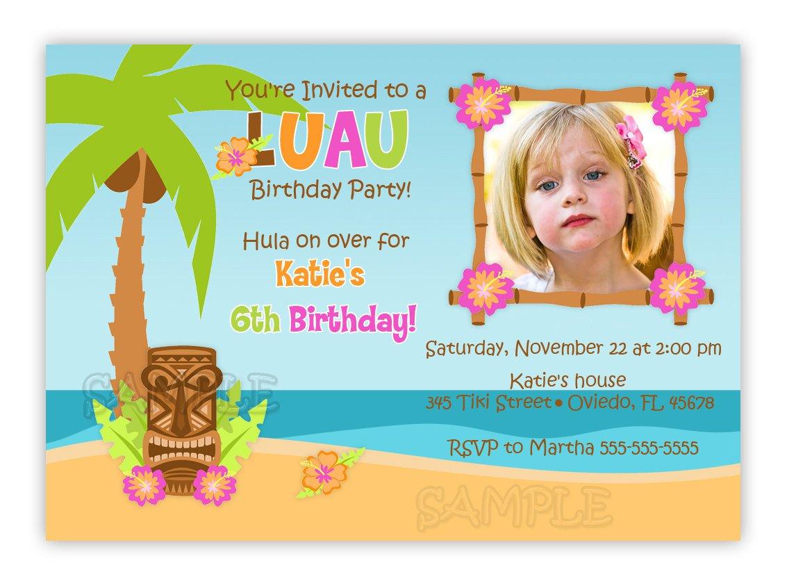 Free Printable Luau Birthday Invitations Girls