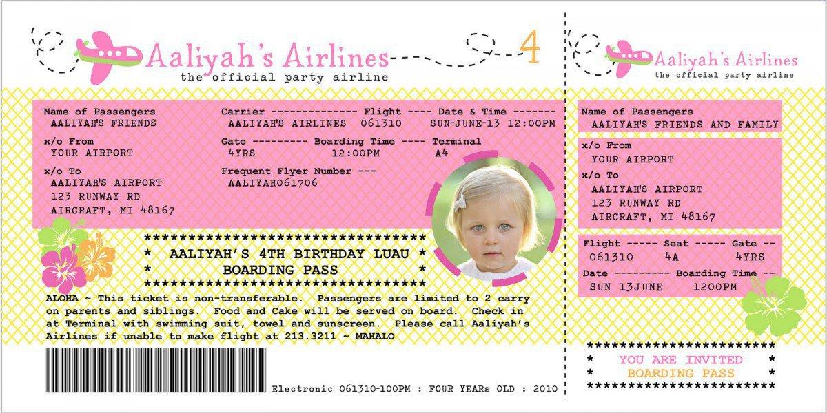 Free Printable Luau Party Invitations Kids 2016