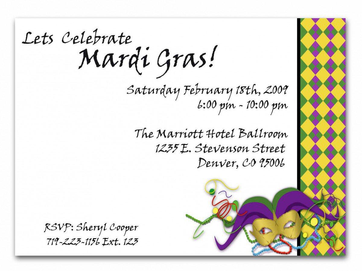 Free Printable Mardi Gras Invitations 2015