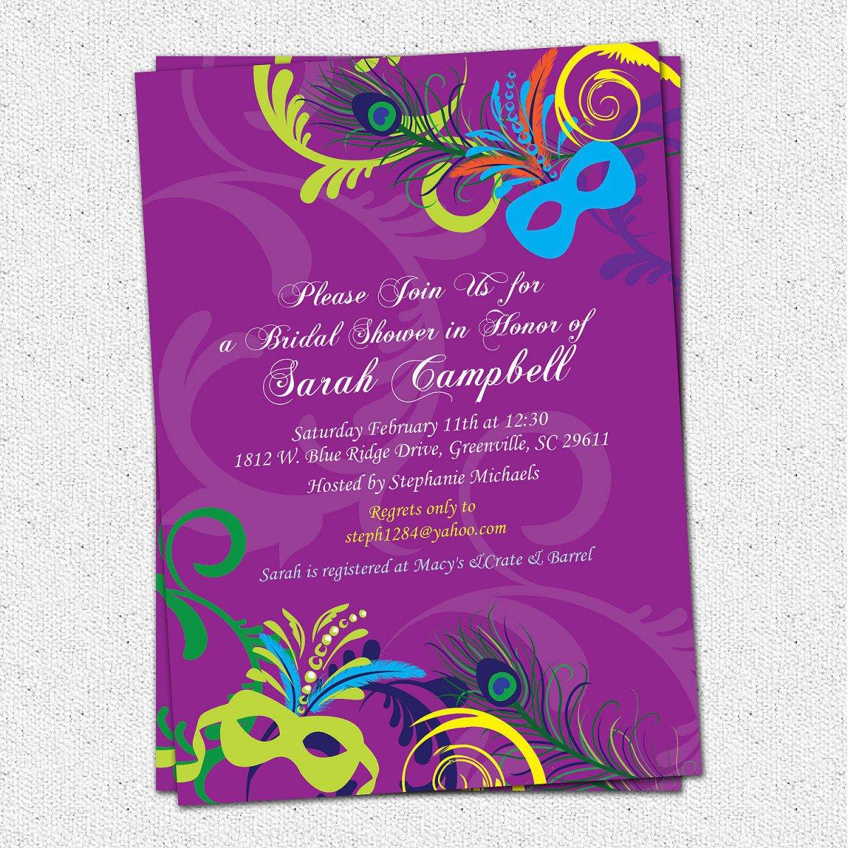 Free Printable Mardi Gras Invitations 2018