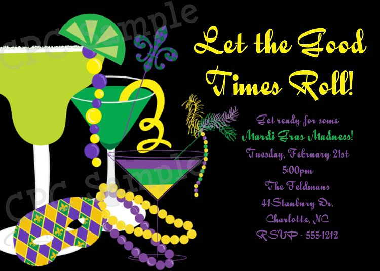 Free Printable Mardi Gras Party Invitations 2015