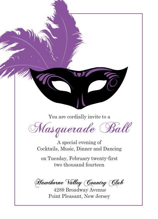 Masquerade Mask Invitation Template Masquerade Free Wedding – Mask Invitations Masquerade Party