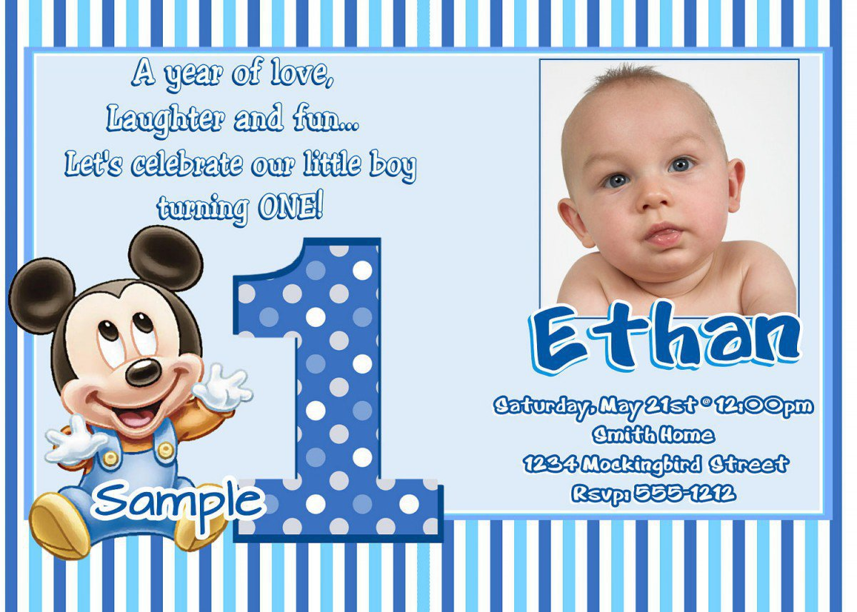 Free Printable Mickey Mouse Birthday Party Invitations 2016