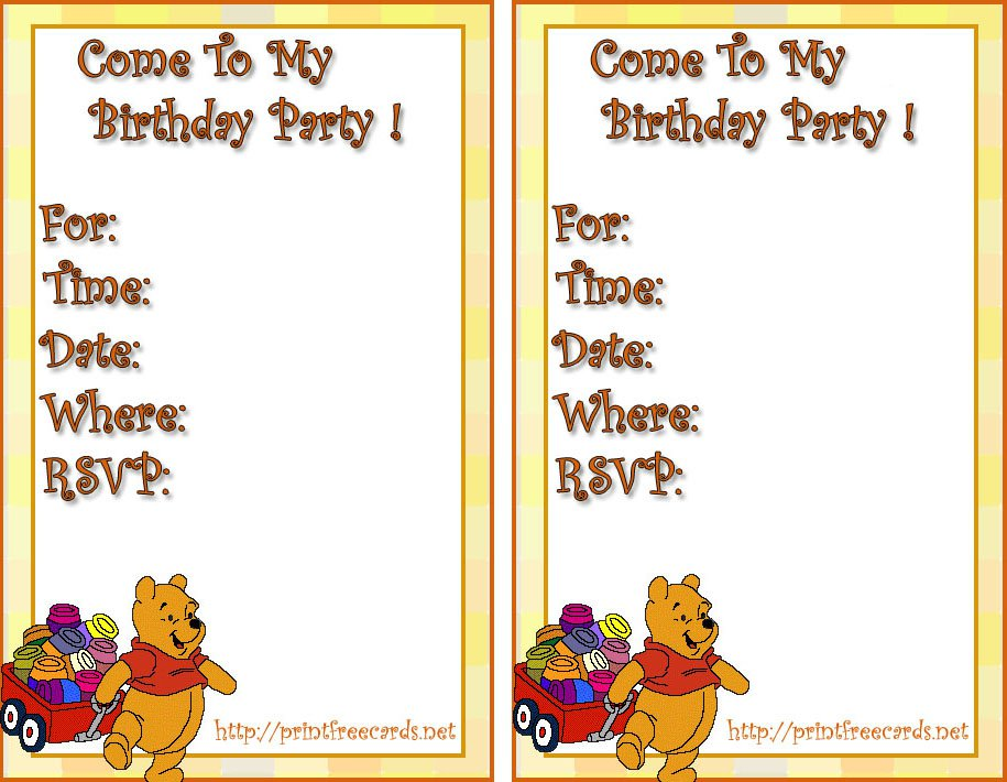 Free Printable Mickey Mouse Birthday Party Invitations