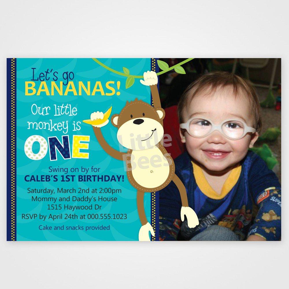 Free Printable Monkey Invitations For Birthday
