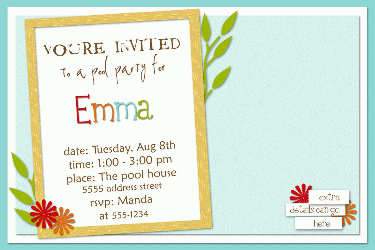 Free Printable Party Invitation Templates For Kids