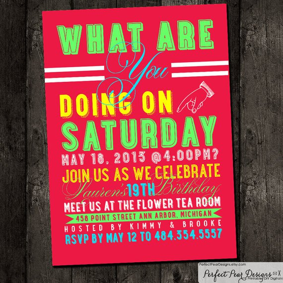Free Printable Party Invitations For Teenage Girls 2017