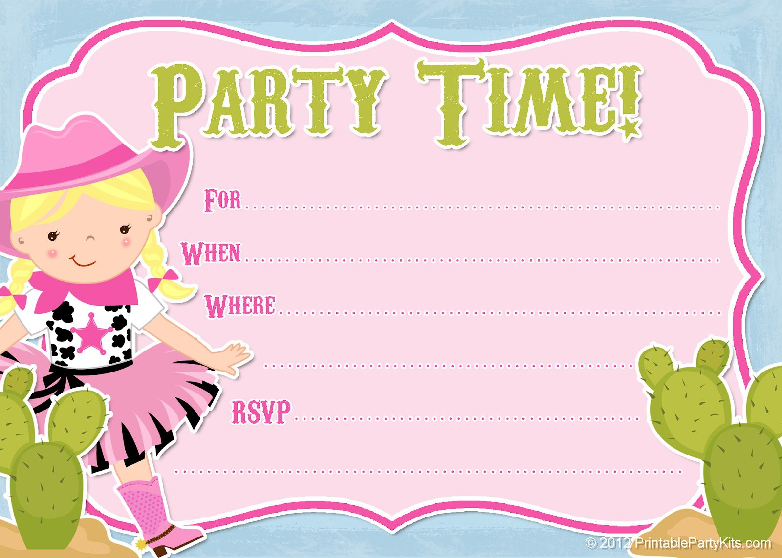 Free Printable Party Invitations No Download