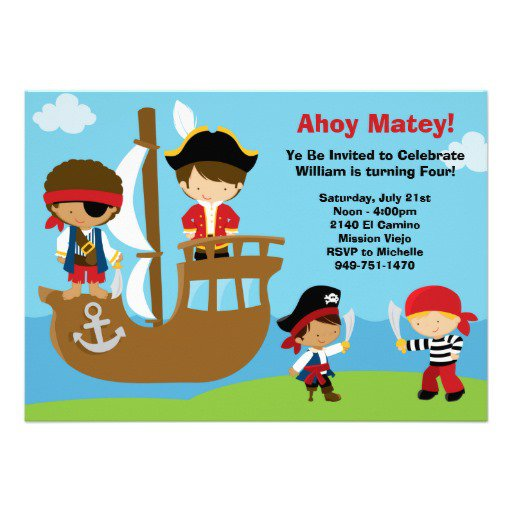 Free Printable Pirate Invitations Templates 2017