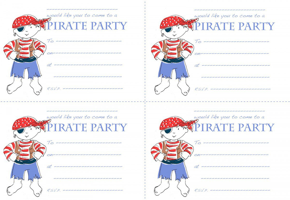 Free Printable Pirate Invitations Templates 2018