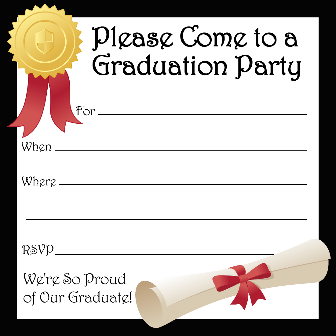 Free Printable Preschool Graduation Invitation Template