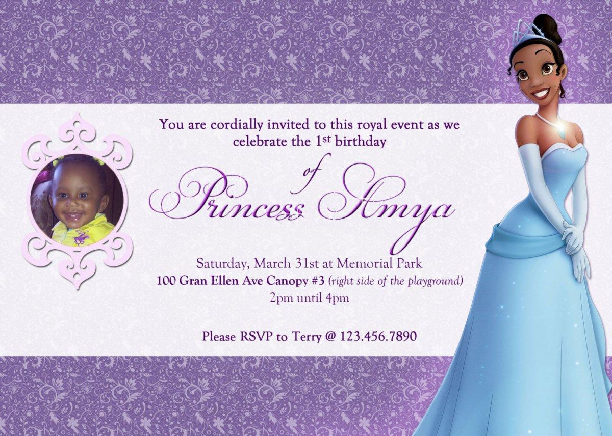 Free Printable Princess And The Frog Birthday Invitations