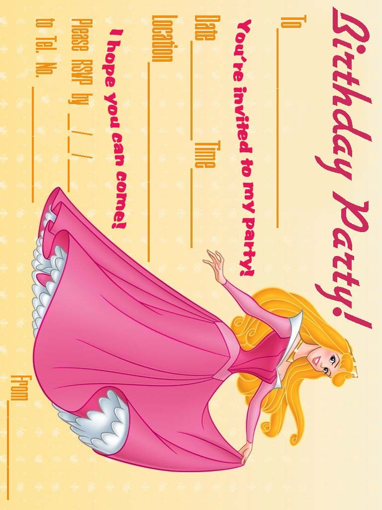 Free Printable Princess And The Frog Invitations 2015
