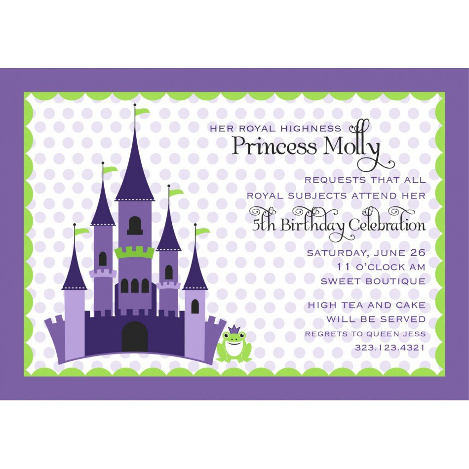 Free Printable Princess And The Frog Invitations 2016