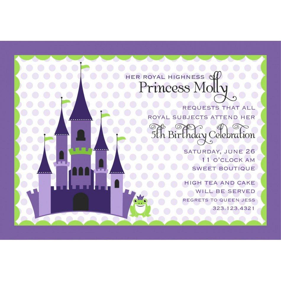 Free Printable Princess And The Frog Invitations 2016