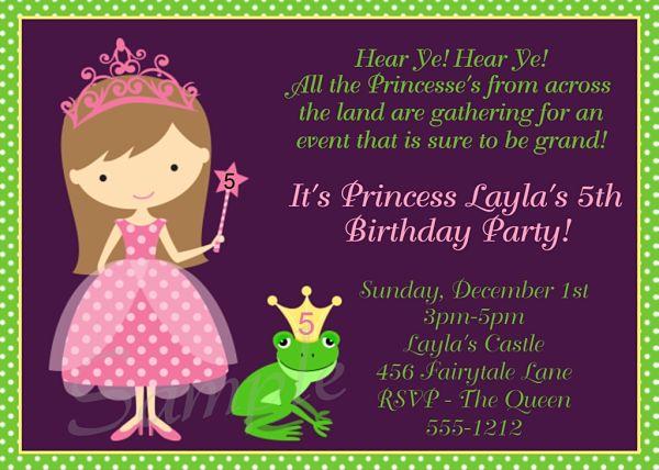 Free Printable Princess And The Frog Invitations 2018