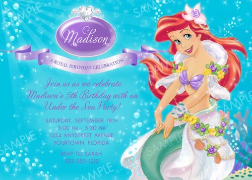 Free Printable Princess Birthday Invitations For Girls 2016
