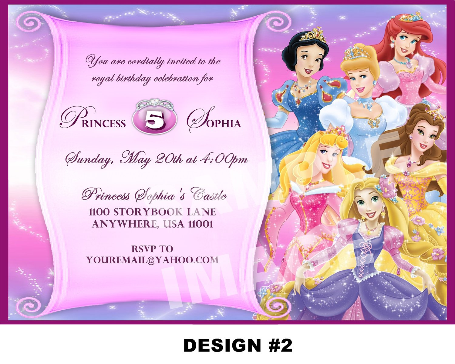 Disney Princess Birthday Invitation Templates Free Roho 4senses Co
