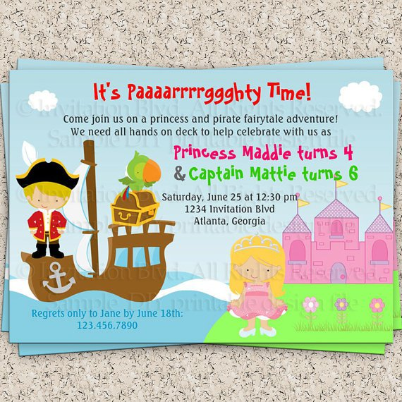 Free Printable Princess Invitations 2016