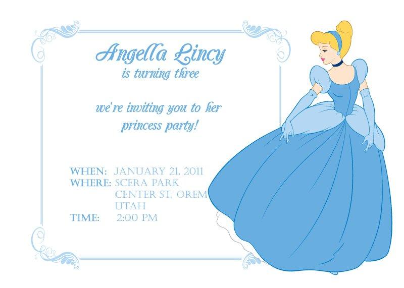 Free Printable Princess Invitations 2017