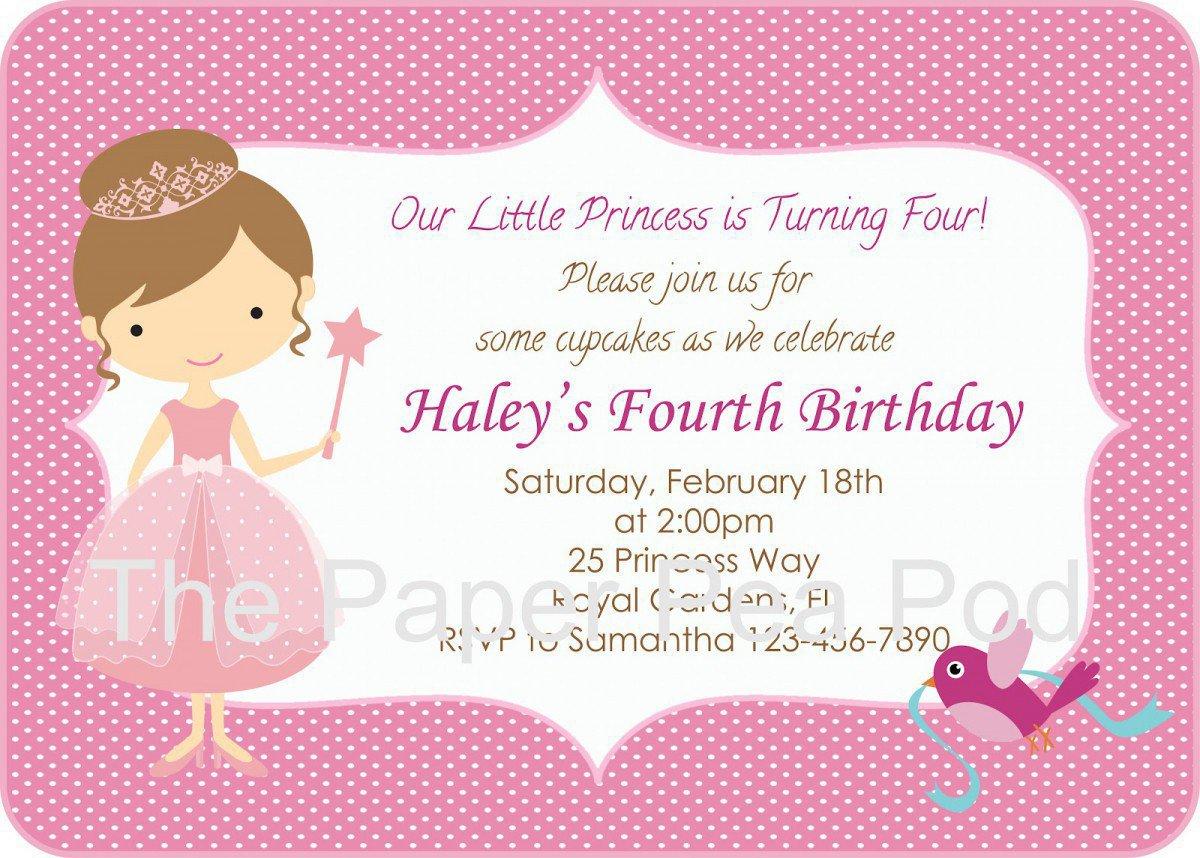 Free Printable Princess Invitations 2018