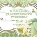 Free Printable Princess Invitations Birthday 2016