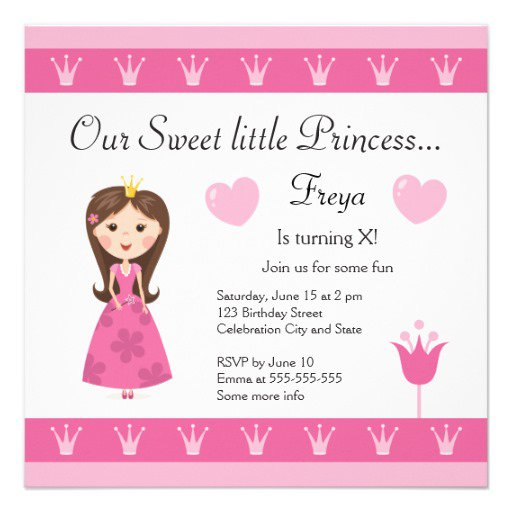 Free Printable Princess Invitations Birthday
