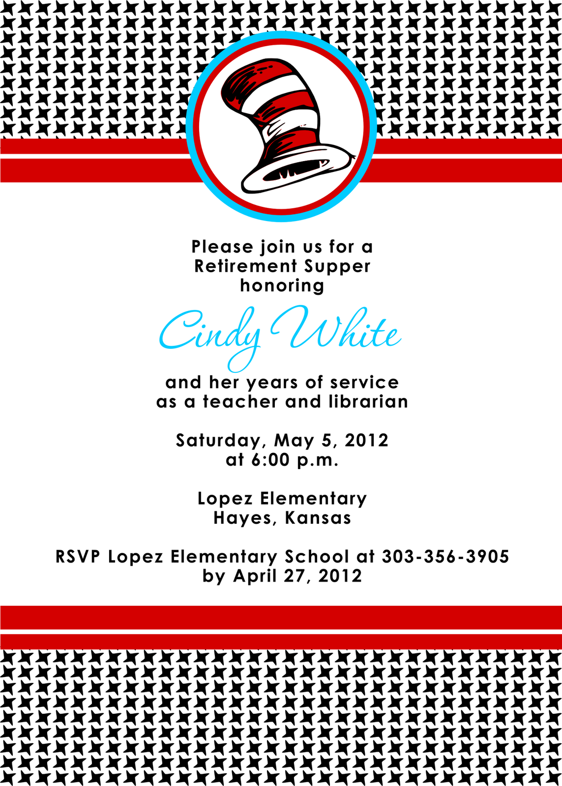 Free Printable Retirement Invitations For Teachers