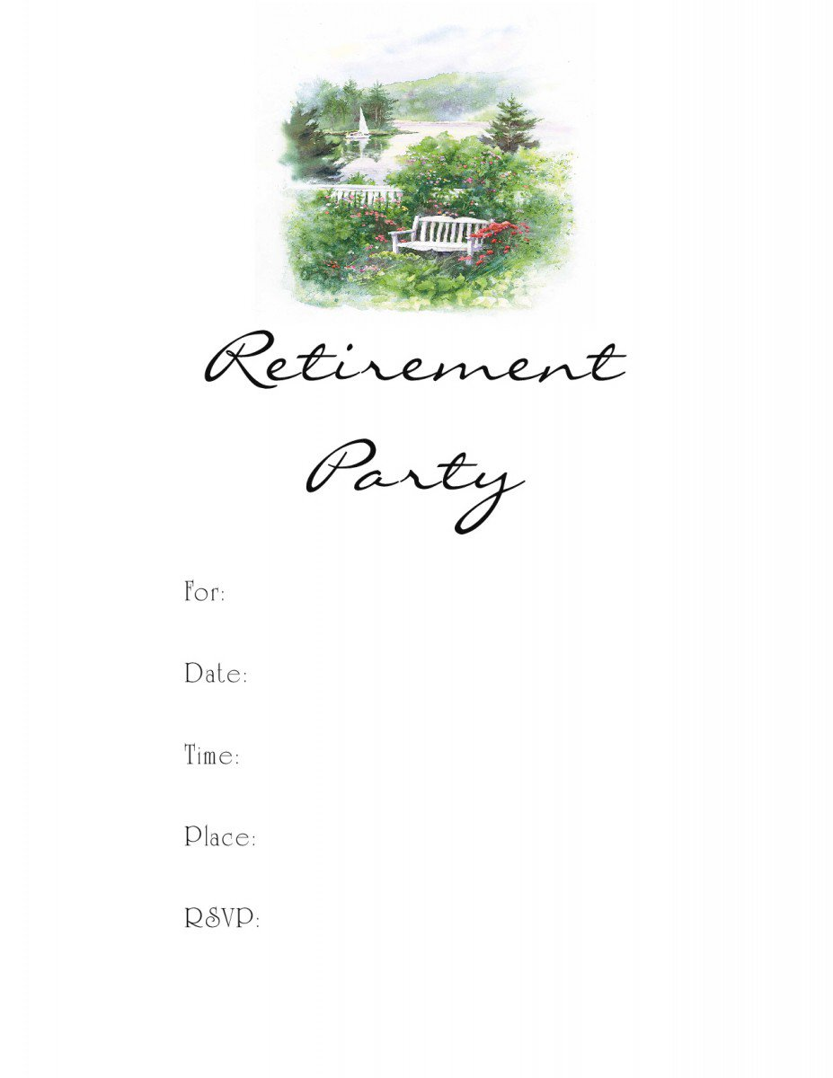 Free Printable Retirement Party Invitations Templates 2018