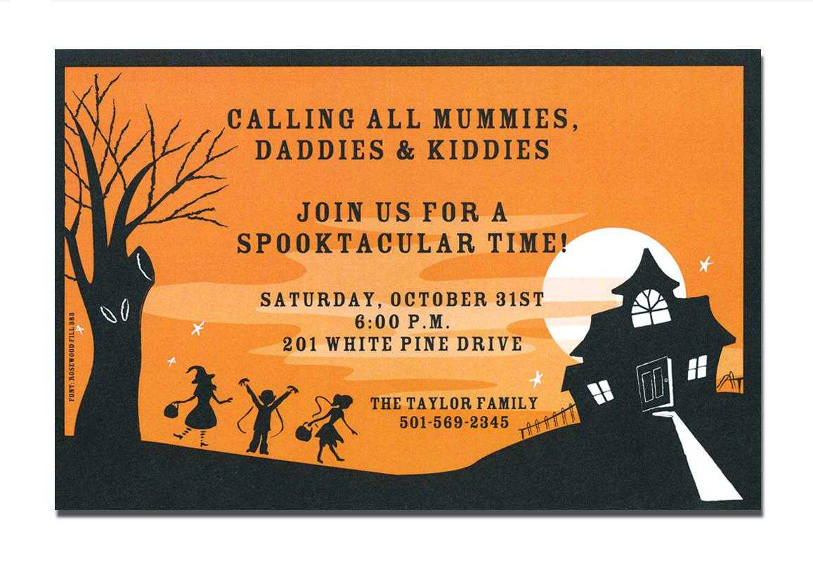 free printable scary halloween invitations