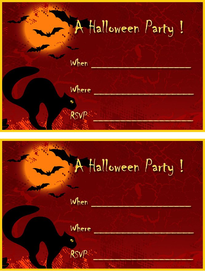 Free Printable Scary Halloween Invitations 2016