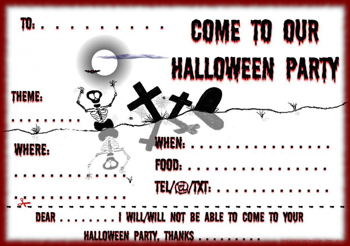Printable Halloween Invitation Templates Free Printable Halloween – Costume Party Invitations Free Printable