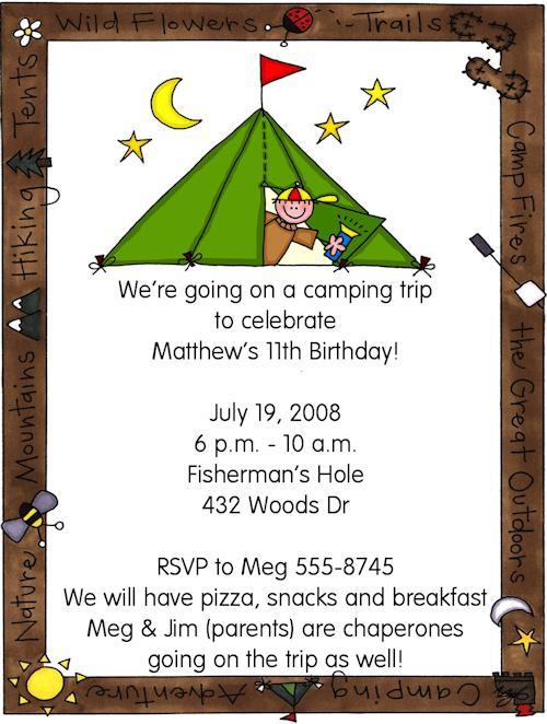 Free Printable Slumber Party Invitation Cards